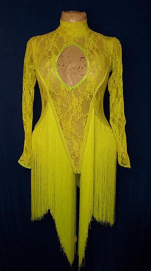 Neon Lace Dance Costume