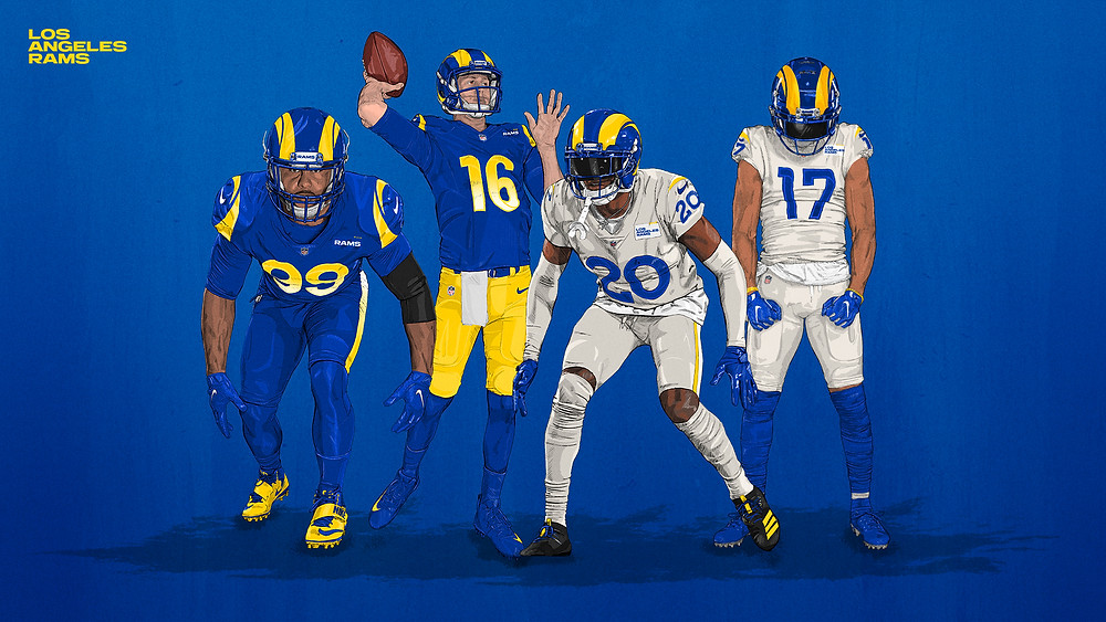 Novos uniformes do Los Angeles Rams