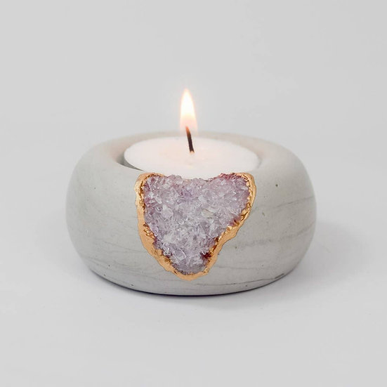 Amethyst Tea Light Candle Holder