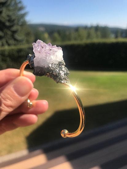 Raw Amethyst Crystal Bracelet