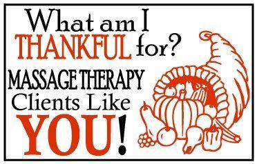 THANKSGIVING MASSAGE SPECIAL!
