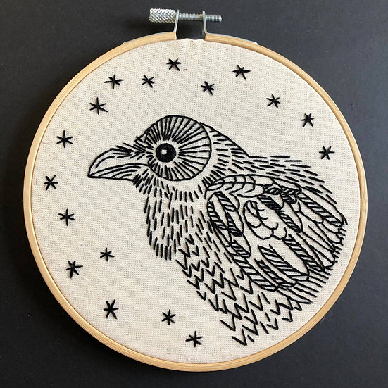 Raven Embroidery Kit