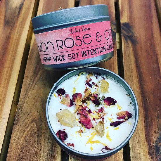 Lemon & Rose Uplifting Soy Candle