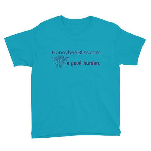 Unisex Youth Short Sleeve T-Shirt- BEE a good human