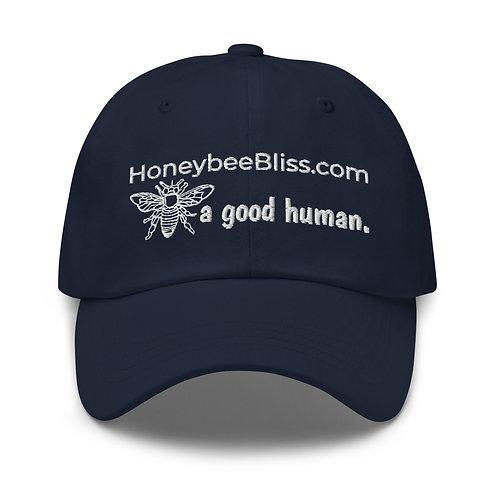 Unisex Baseball Cap. BEE a good human.