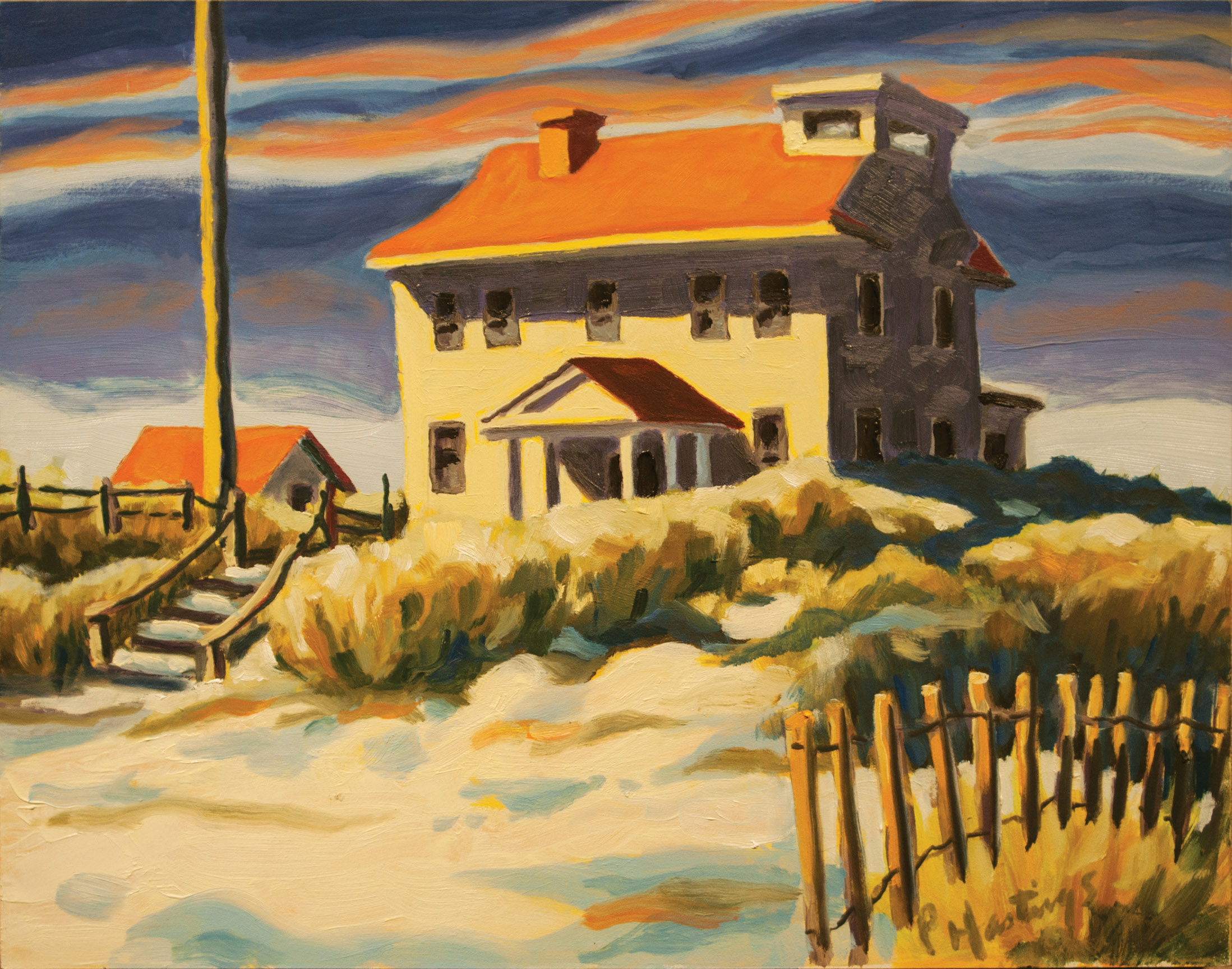 Winter at the Coast Guard Station
