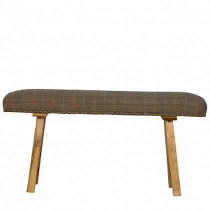 Bench Upholstered Multi Tweed