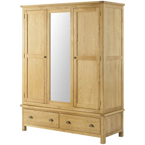 The Toulouse Oak Triple Wardrobe