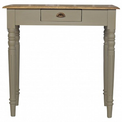 Arty 1 Drawer Writing Desk with Flute Legs