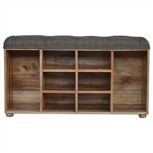 Shoe Cabinet with Upholstered Seat
