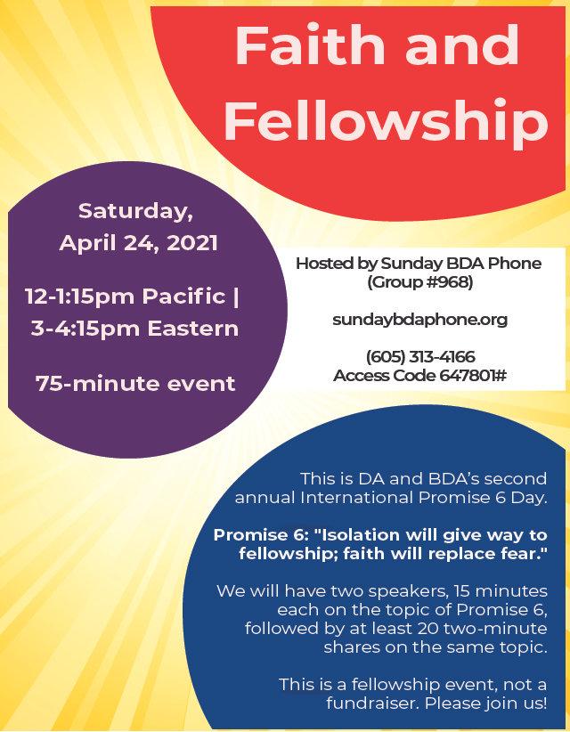 2021_03_21 - Sunday BDA Promise 6 Event