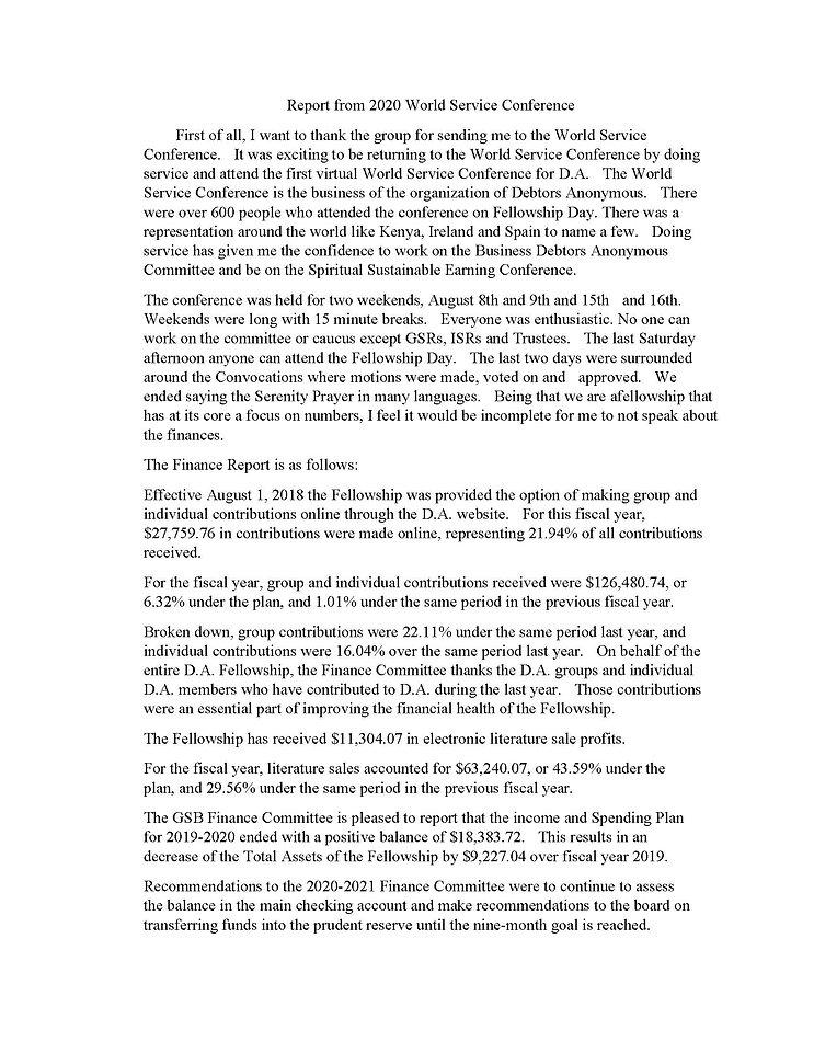 2020_10_18 - GSR Report from 2020 World