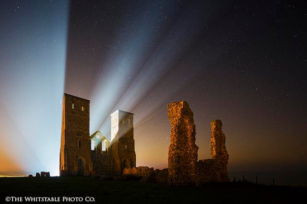 Landscape Photograph of Reculver Towers, Kent.