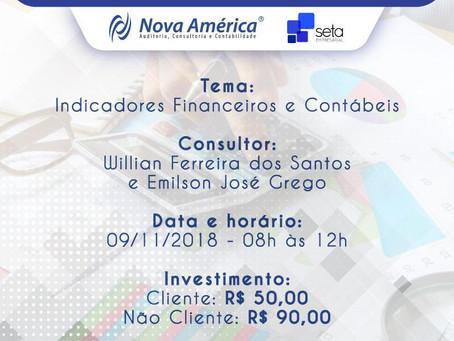 Participe: Workshop Indicadores Financeiros e Contábeis está com inscrições abertas
