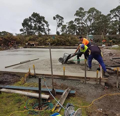 Melbourne concrete excavations