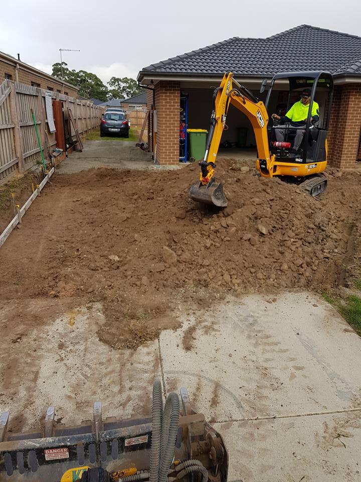 Seaford concrete excavations