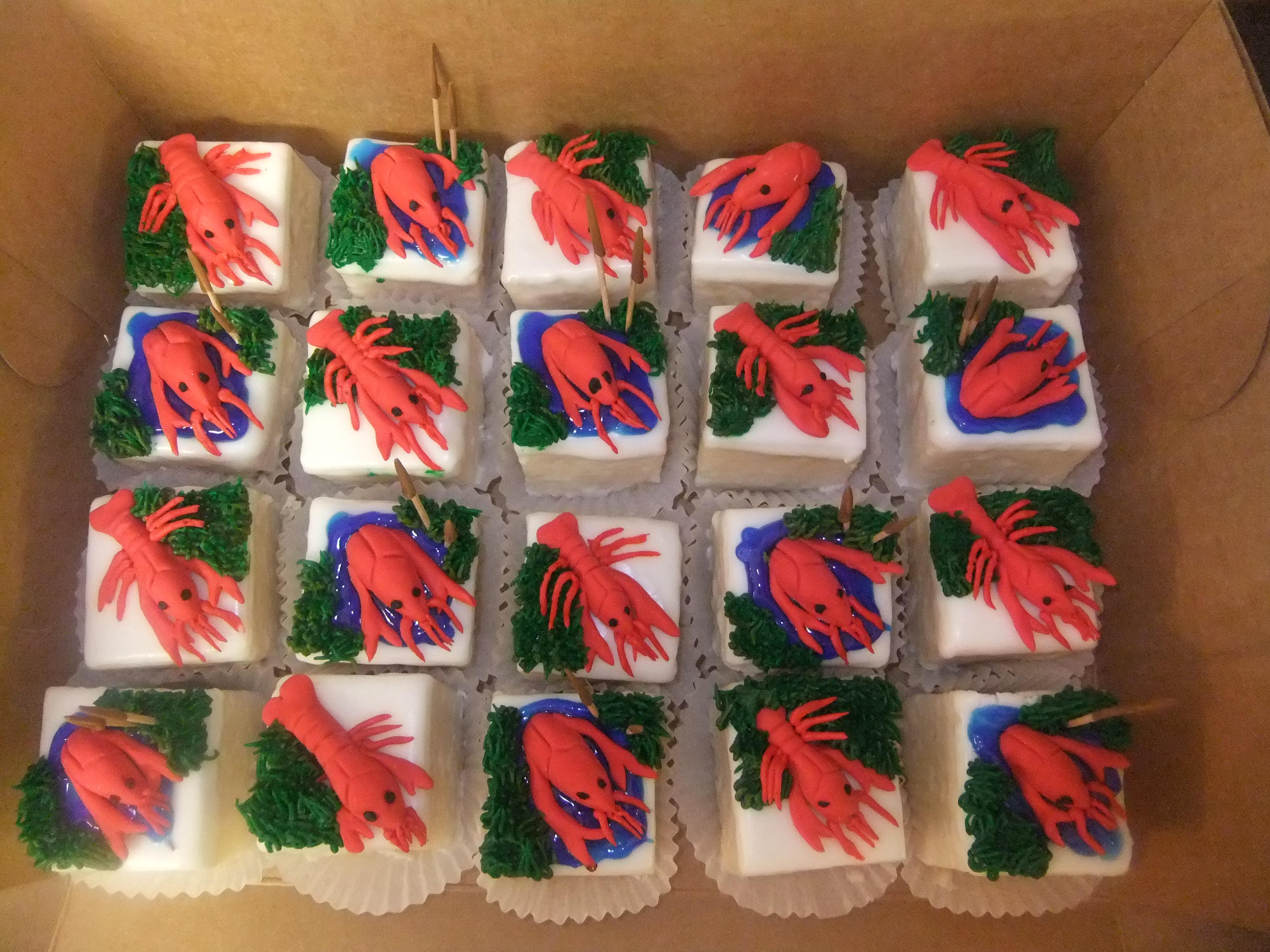Cake Squares Crawfish Cake squares
