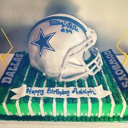 Football Helmet on Field- Dallas