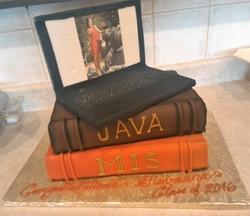 Computer-Books Grad Cake