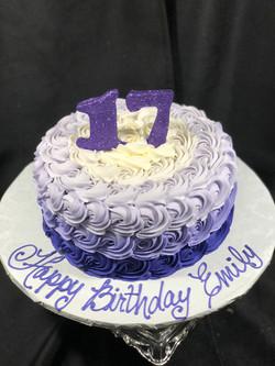 Purple Rosette Ombre
