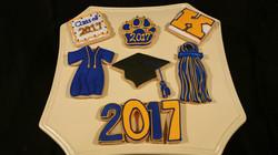 Grad Cookies Year number