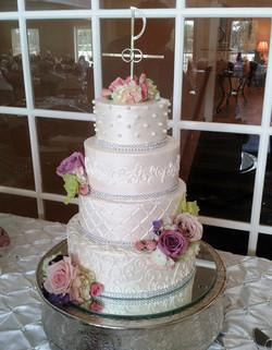 4 tier wed cake