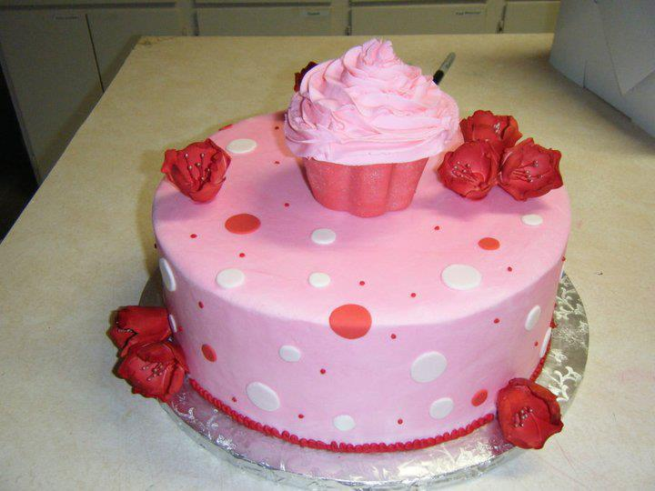 Pink cupcake top