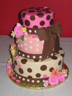 Pink and brown with Bow