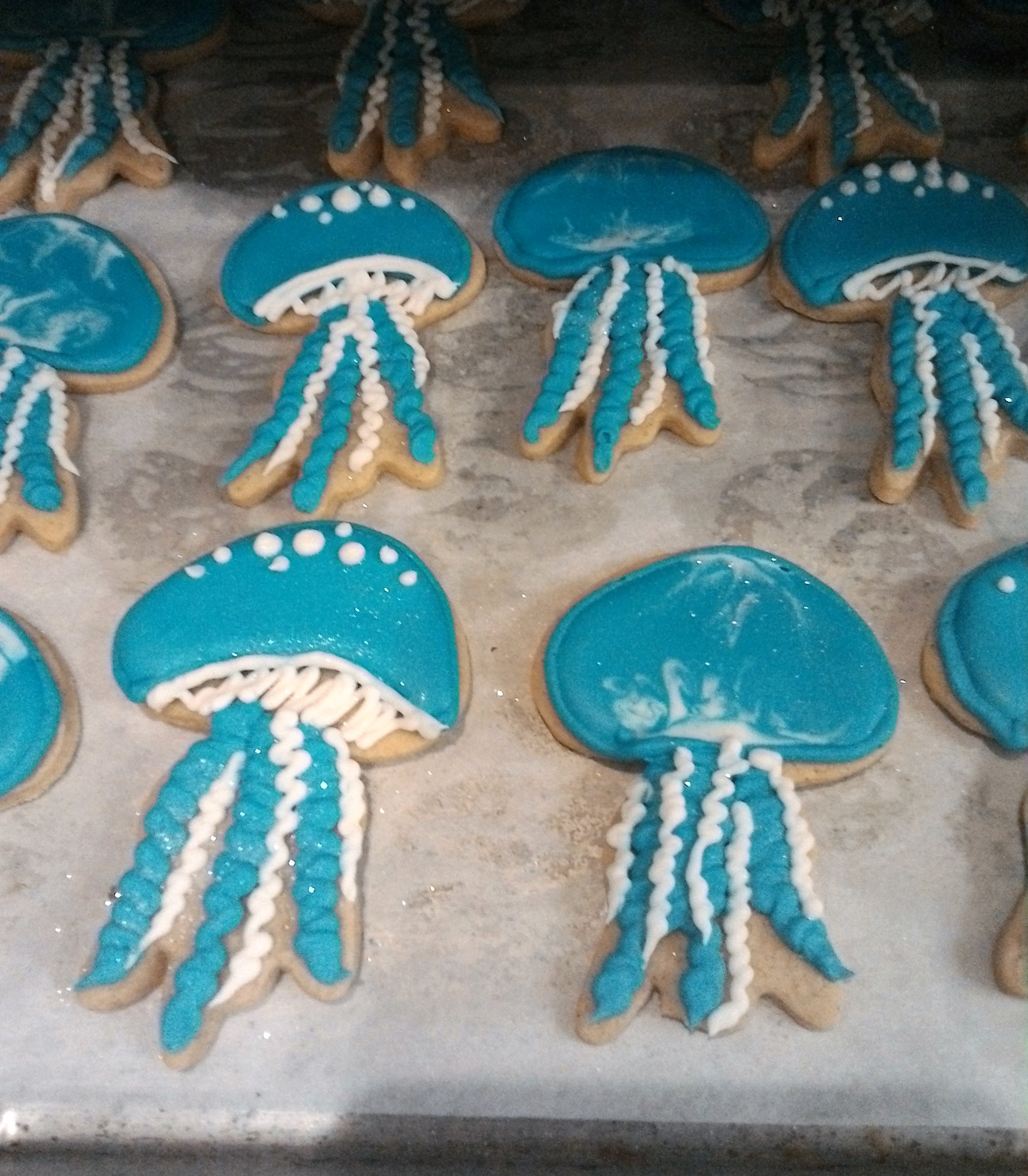 Jellyfish Cookies 2, client's cutter