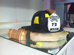 Fire Fighter Helmet and Hose
