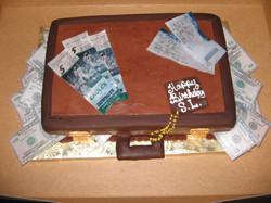 Briefcase w- tickets and money