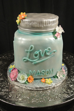 Mason Jar sculpted