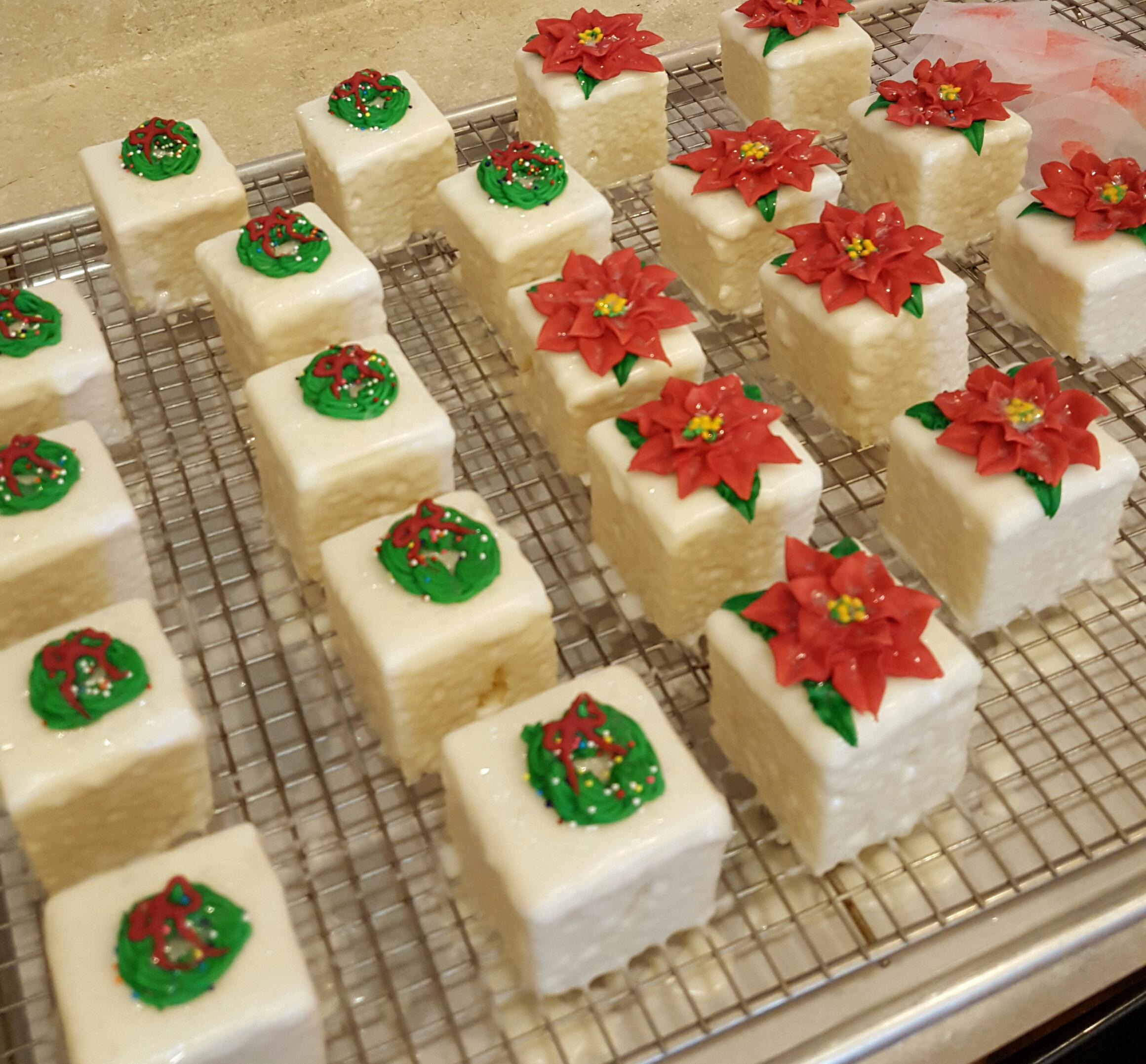 Cake squares, Christmas