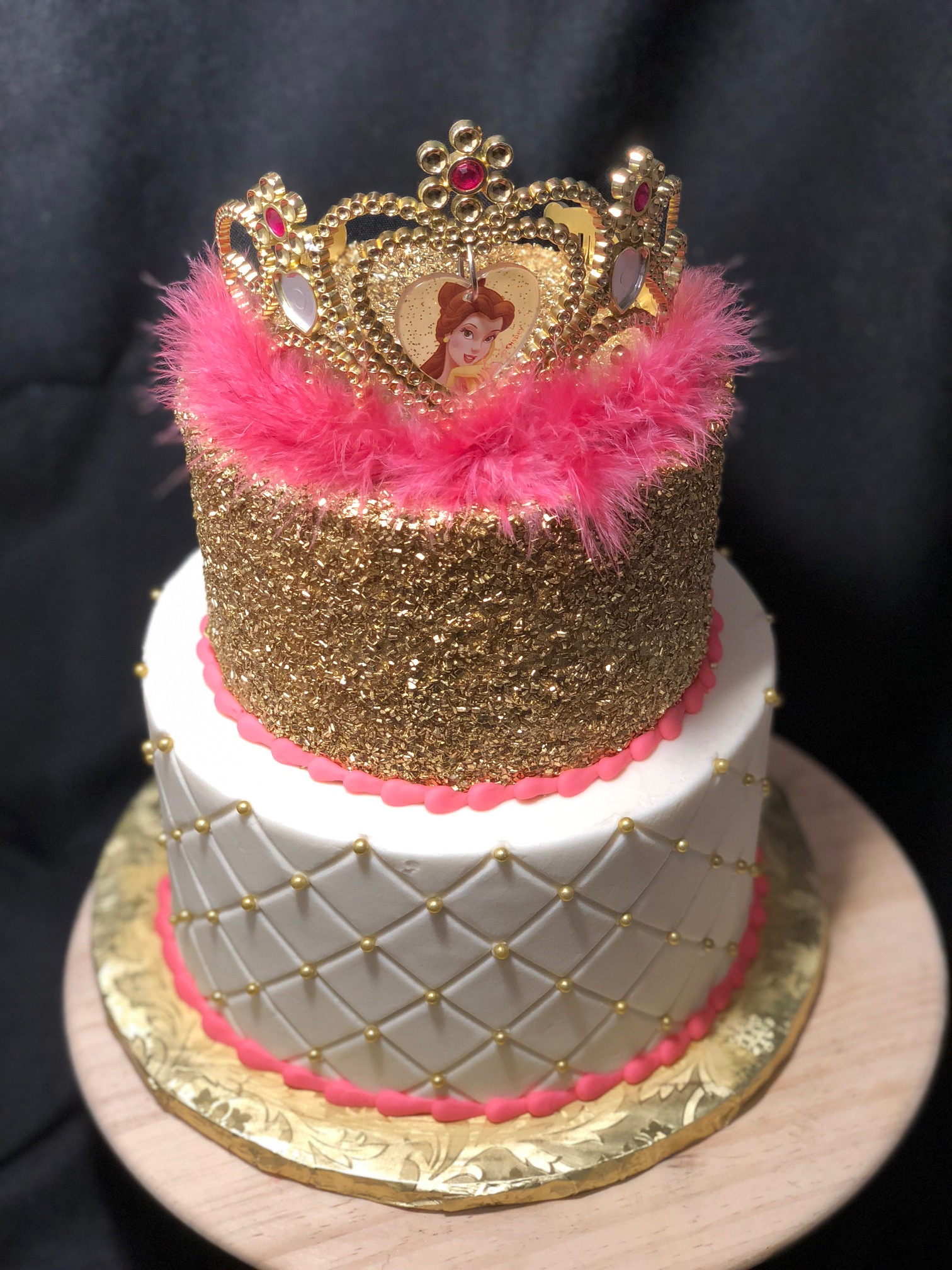 Pink and Gold with Crown