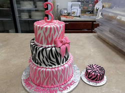 Zebra 3 tier