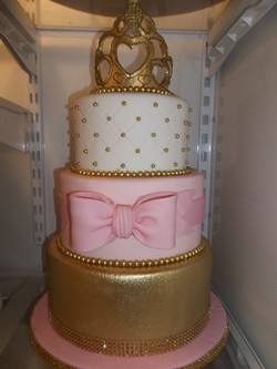 Pink and Gold 3 tier