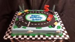 Race Track sheet cake