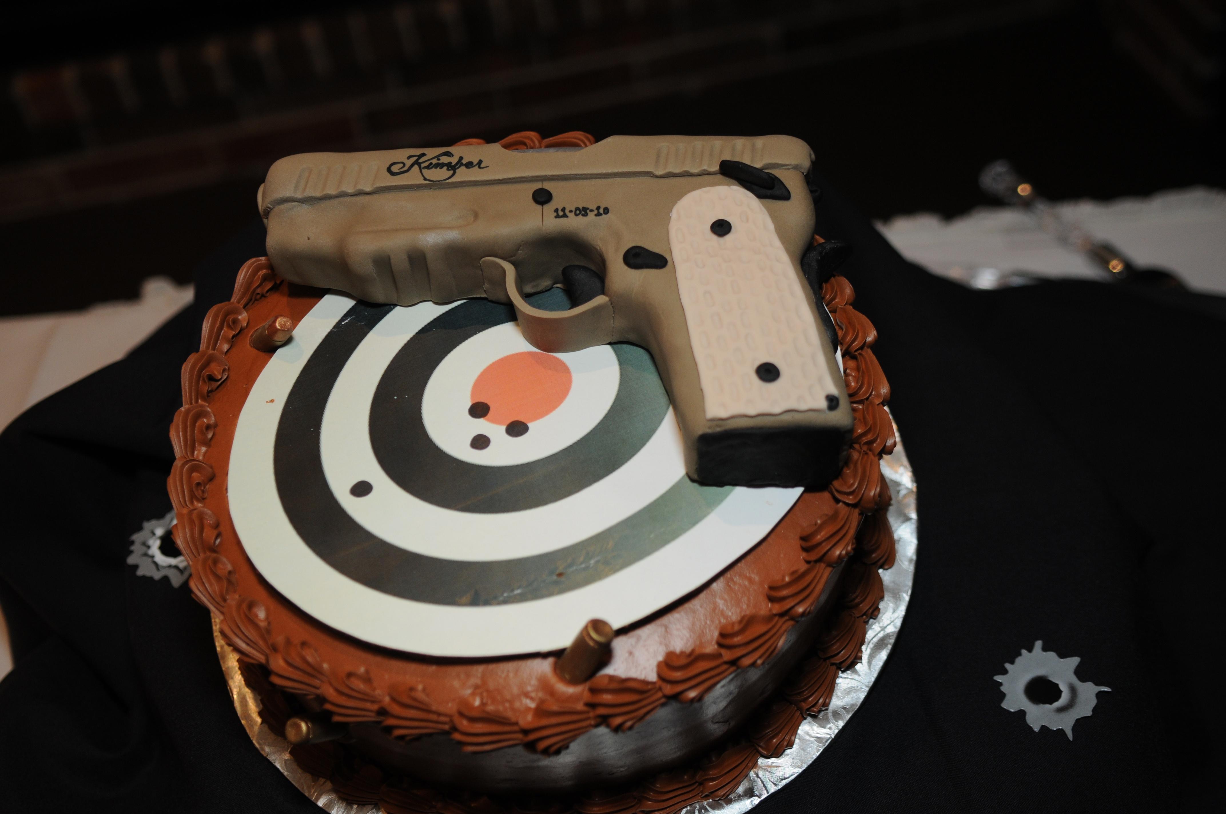 Kimber Gun and Target