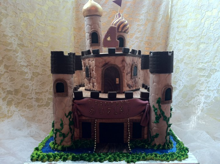 Castle cake, Brown