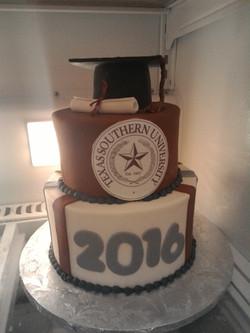Texas Southern Grad Cake