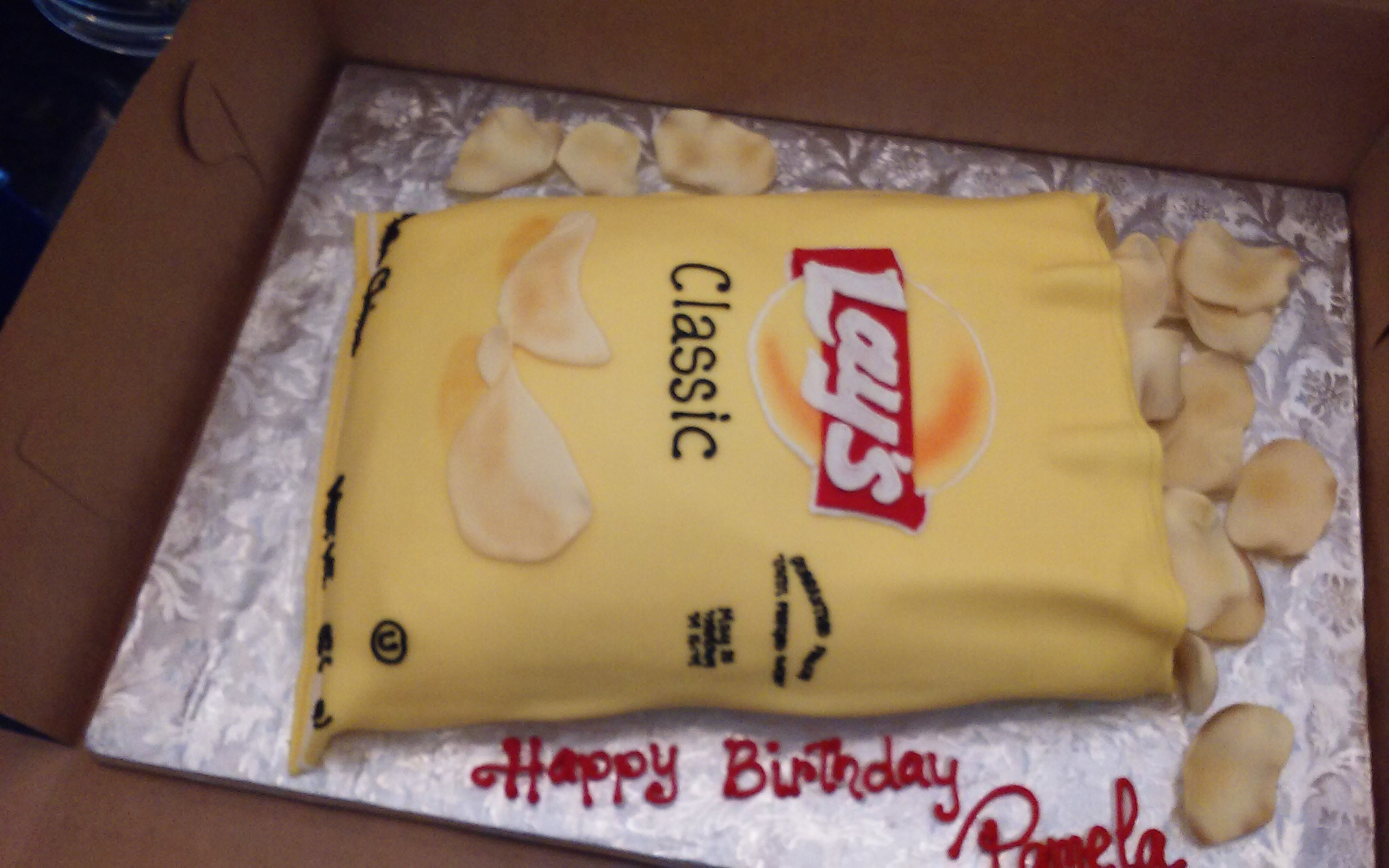 Potato Chips Sculpture cake