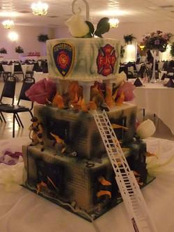 Firefighter side 2 of Wedding Cake