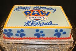 Paw Patrol sheet cake