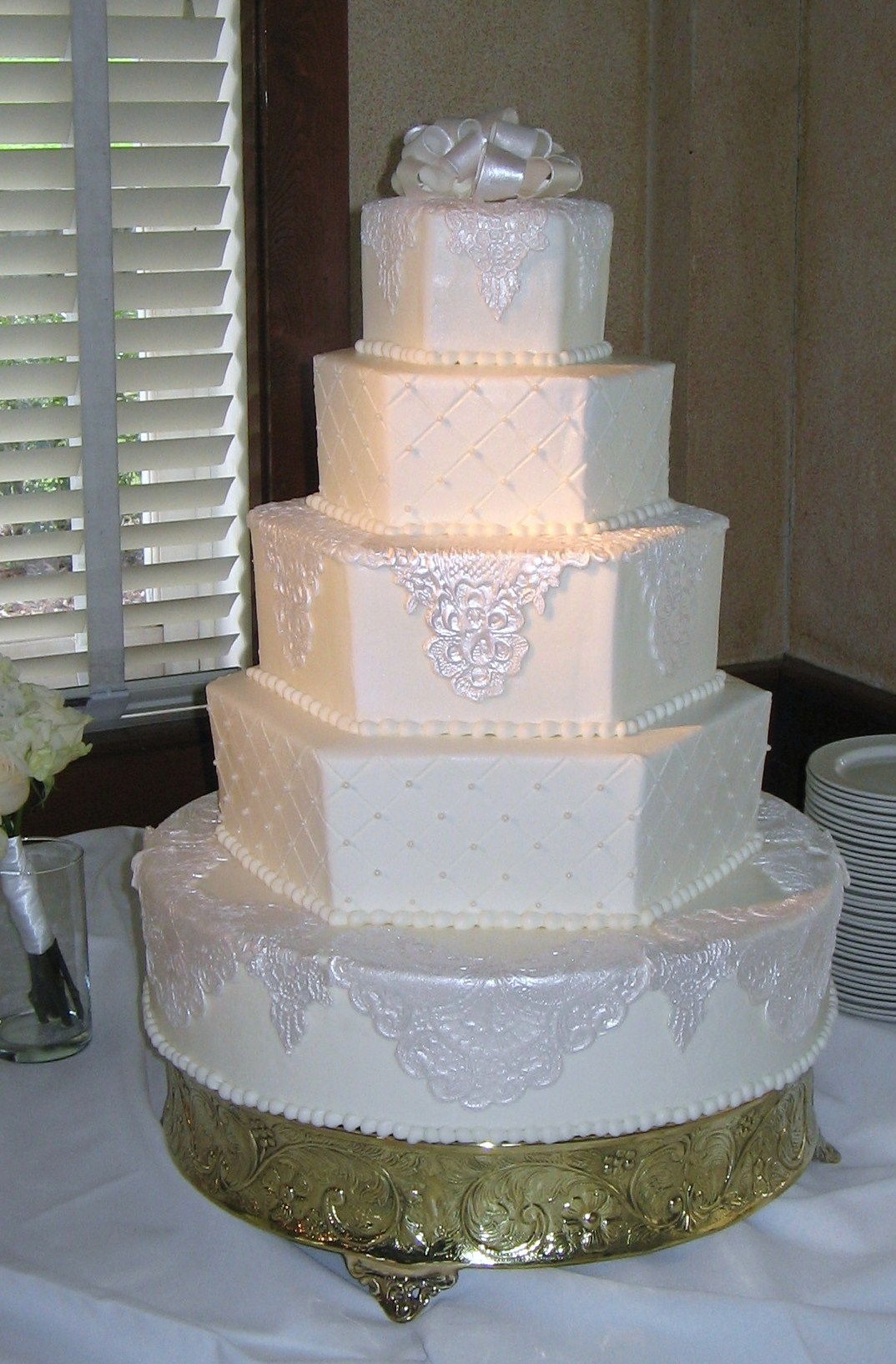 5 Tier Hexagon & Lace