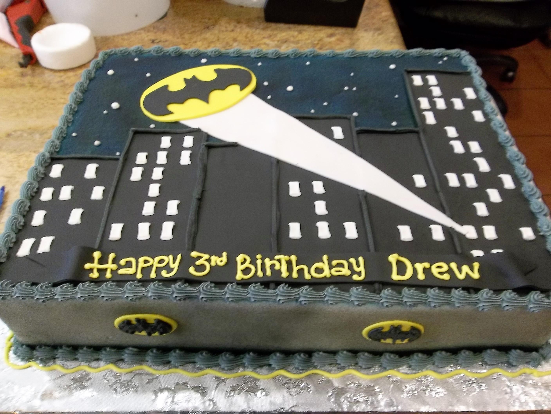 Super Hero Batman theme, sheet cake