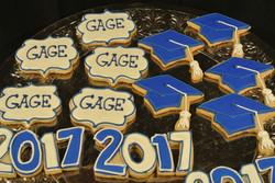 Grad Cap and Name cookies