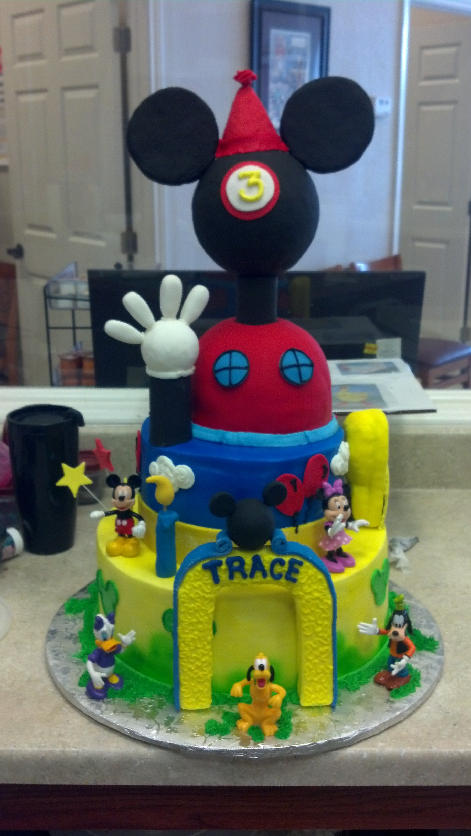 Mickey mouse 3 tier