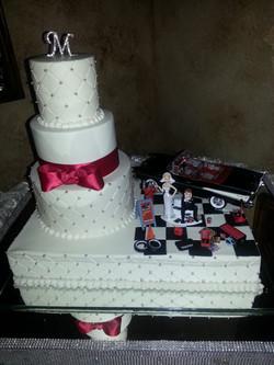 Combo wedding and grooms
