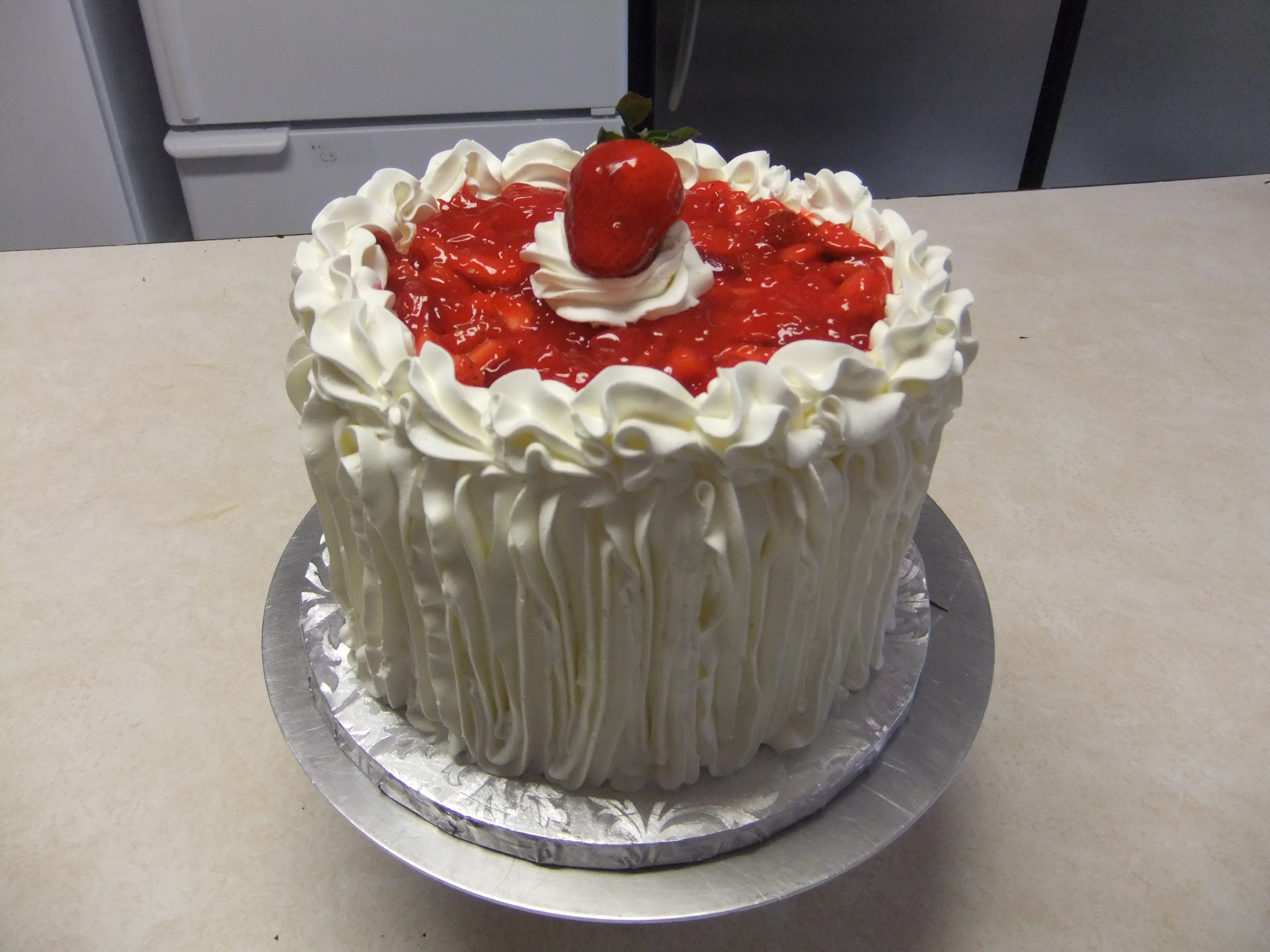 Cake Strawberries and Cream -In Season o