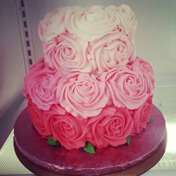 Ombre Rosettes, Pink 2 tier